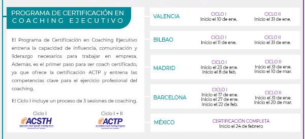 Programa de Certificación en Coaching Ejecutivo